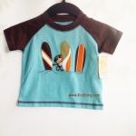 เสื้อเด็ก ลายลิงโต้คลื่น ไซส์ 3เดือน-4ปี