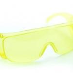 แว่นตากันน้ำ แว่นตากันลม สำหรับขี่จักรยาน safety glasses สีเหลือง