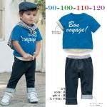 ชุดเสื้อฟ้า+กางเกงขายาว ไซส์ 80-90-100-110-120