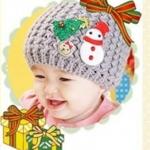 หมวกไหมพรมลายตุ๊กตาหิมะ น่ารักสไตล์เกาหลี