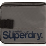 Superdry - Tarpaulin Wallet สีเทา/โลโก้ น้ำเงิน Grey / Bluenavy - normal size