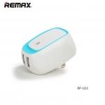 หัวปลั๊กชาร์จมือถือ remax USB Charger RP-U23 สีฟ้า