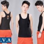 เสื้อกล้ามทอม EVA เต็มตัว รุ่น ผ้าJuti ตะขอ สีดำ