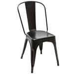 เก้าอี้เหล็ก สีดำ สไตล์โมเดิร์น สำหรับร้านอาหาร ร้านกาแฟ (MT-BLACK)