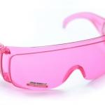 แว่นตากันน้ำ แว่นตากันลม สำหรับขี่จักรยาน safety glasses สีชมพู