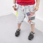 กางเกงยีนส์เด็ก ลายธงชาติ ไซส์ 7,9,11