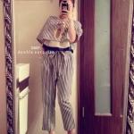 SALE:เซ็ทเสื้อกางเกง เป็นเสื้อตั้วสั้นลายริ้ว พร้อมเสื้อกล้ามตัวในชายระบายน่ารัก ใส่แมตซ์กับกางเกงขายาวลายเดียวกัน มีเชือกร้อยผูกช่วงเอว ดูดีมีสไตล์ ใส่สบายสุดๆ จะใส่ทำงาน ใส่เที่ยวก็น่ารักมากๆค่ะ