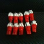 หลอดไฟ ไฟหรี่ ขั้ว T10 SMD 5 ดวง สีแดง 1 คู่