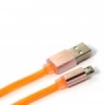 สายชาร์จโทรศัพท์มือถือ USB สำหรับ Android (1M,V2) สีส้ม - Remax