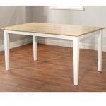 โต๊ะไม้จริง TOP สีธรรมชาติ ขาสีขาว มีดีไซน์ เข้ากันได้อย่างลงตัว