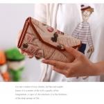 กระเป๋าสตางค์แบบยาวเวอร์ชั่นเกาหลีของลายการ์ตูน