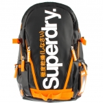 Super Dry - New Tarp Backpack Black/Orange Jaffa