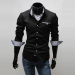 เสื้อเกาหลีสลิมเสื้อเชิ้ตแขนยาวเสื้อเชิ้ตผ้า conton สำเนา