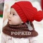 หมวกไหมพรมสีแดง ตกแต่งลายเก๋ๆ น่ารักสไตล์เกาหลี