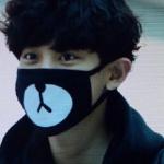 ผ้าปิดปากลายหมี Chanyeol EXO