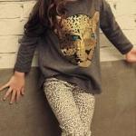 ชุดเสื้อเทาลายเสือ+กางเกง ไซส์ 90-100-110-120-130