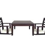 ชุดโต๊ะอาหารพร้อมเก้าอี้มีที่วางแขน เหมาะสำหรับร้านอาหารสไตล์ญี่ปุ่น (VK-SET2)