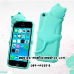 3D Deere Diffie Cat Series Silicone Shell Cover for Iphone4s