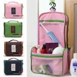 GB166 กระเป๋าจัดระเบียบ กระเป๋าใส่อุปกรณ์อาบน้ำ ใส่เครื่องสำอางค์ หรือของใช้จุกจิกทั่วไป ในเวลาเดินทาง ท่องเที่ยว ขนาด กว้าง 20 x สูง 13 x หนา 8 cm.
