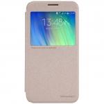 เคสฝาพับ Samsung E7 รุ่น Sparkle Leather Case (สีทอง)