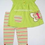 เสื้อ+กางเกง Ashley ลาย Butterflyไซส์ 3ด