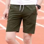 กางเกงขาสั้นแฟชั่นเกาหลี CAMO Dark Green
