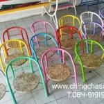 เก้าอี้แฟนซีมีพนักพิงที่นั่งทำจากไม้กรีนบอร์ด
