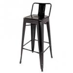 เก้าอี้บาร์เหล็กมีพนัก สไตล์โมเดิร์น เหมาะสำหรับแต่งร้านกาแฟ คาเฟ่