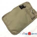 Samsonite Securi-3 RFID Blocking Hidden Neck Wallet กระเป๋าซ่อนตังค์ แบบคล้องคอ สีน้ำตาลอ่อน (Khaki)