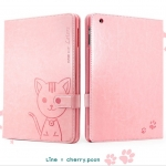 Leiers Domi Cat PU Leather Case Lovely Cover With Card Slot Stand and Strap for Samsung Galaxy Tab A 8.0 (T350)