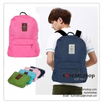 GB124 กระเป๋าเป้ กระเป๋าจัดเก็บสิ่งของ เวลาเดินทางท่องเที่ยว ใส่หนังสือเรียน จัดเก็บเสื้อผ้า ของใช้ต่างๆ เนื้อผ้าอย่างดี ผ้ากันละอองน้ำ ซิบเปิด-ปิด ด้านหน้ามีช่องใส่่ของจุกจิก สายเป้ปรับขนาดได้ เมื่อไม่ใช้งานก็สามารถพับเก็บ พกพาใส่กระเป๋าเดินทางใบใหญ่ได้อ
