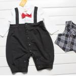 ชุดหมีแฟนซีมาใหม่ ชุดหมี+เสื้อกั๊กสีดำ ผ้า cotton เนื้อนุ่ม ใส่สบาย น่ารักมาก