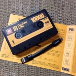 Powerbank 10000 mAh สีดำ ออกแบบเก๋ๆ รูปทรง Tape สไตล์วินเทจ
