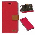 เคส IPhone 7 Plus เคสไอโฟน7พลัส เคสแบบฝาพับตั้งได้ สีชมพูเข้ม รุ่น ROAR KOREA
