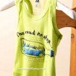 เสื้อผ้าเด็ก(เสื้อกล้าม) Green ไซส์ 5,7,9