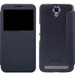 เคสแบบฝาพับ รุ่น Alcatel Onetouch Flash Plus ฝาพับ nillkin Sparkle Leather Case สีดำ
