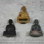หลวงพ่อเกษม เขมโก สุสานไตรลักษณ์ รุ่นรวมบุญพญาวัน๘๔ เมื่อ ๑๓ เมษายน ๒๕๓๘ เลข ๑๗ ทั้ง 3 องค์ : ทองคำ(72.1กรัม),เงิน,นวะ