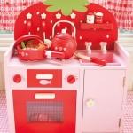 ชุดครัวสตรอเบอรรี่ สีแดง (Mother Garden Strawberry Kitchen Red Set)