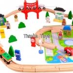 ชุดรถไฟ Wooden Train Set My Busy Town