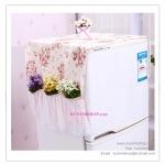 GH048 ผ้าคลุมตู้เย็นลายน่ารัก ประดับด้วยลูกไม้สีหวาน
