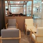 เซทโต๊ะกลาง+เก้าอี้อาร์มแชร์ ร้านกาแฟ ร้านบิงซู ร้านเบเกอรี่