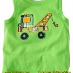 เสื้อกล้ามเด็ก ลาย Truck4 ไซส์ 4,6ปี