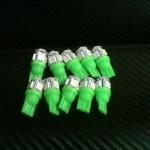 หลอดไฟ ไฟหรี่ ขั้ว T10 SMD 5 ดวง สีเขียว 1 คู่