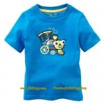 เสื้อเด็กเนื้อนิ่ม ลาย รถไฟ ไซส์ 18-24ด,2,4,5,6 ปี