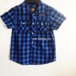 เสื้อเชิ๊ตเด็ก ลายสก๊อต โทนน้ำเงิน H&Mไซส์ 98