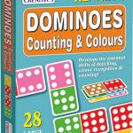 โดมิโนกระดาษ ลาย จุด Pre-School ชุด Dominoes Counting & Colours แบรนด์ Creative's
