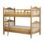เตียงนอน 2 ชั้น สีบีช ดีไซน์สวย แข็งแรงทนทาน สามารถนอนได้ทั้งเด็กและผู้ใหญ่