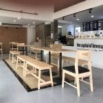 ม้านั่งยาว มีสไตล์ ดีไซน์เรียบง่าย สำหรับร้านกาแฟ ร้านอาหาร