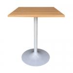 โต๊ะไม้จริง ขาแชมเปญขาว สำหรับร้านอาหาร ร้านกาแฟ