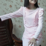 เสื้อให้นม เปิดข้างลำตัว 050 แขนยาว มี สี ชมพู / ส้ม XL อก 38นิ้ว